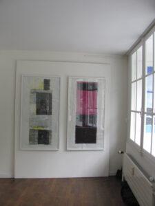 "Abb. links ""Zitronenfalter"" , rechts ""Tango Argentino"" H 138 x B 70 cm"