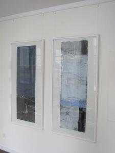 """Abb. links: """"In Verbindung mit der inneren Quelle"""", rechts: """"Antarktis"""" H 138 x B 70 cm"""